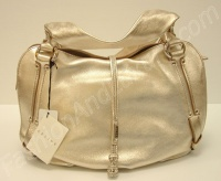 Women Gold Calf Leather Bag