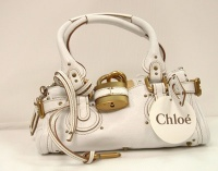 Chloè Woman Whithe Paddington Leather Hand Bag
