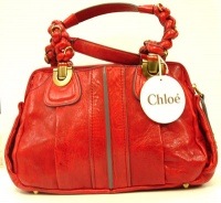 Chloè Woman Red Lamb Leather  Hand Bag