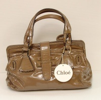 Chloè Woman Brown Paint Lamb Leater