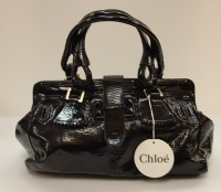 Chloè Woman Black Paint Lamb Leater