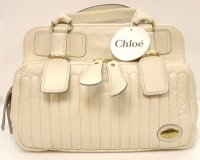 Chloè Woman White Leater Hand Bag