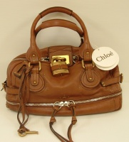 Chloè Women's Brown Leather Hund Bag
