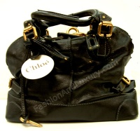 Chloè Women Black Paddington in Leater Bug