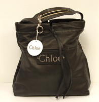 Chloè Woman Black Leather Shopping Bag