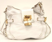 Chloè Woman White Leather Paddington Shoulder Bag