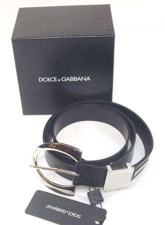 cfbc4260201 Dolce Gabbana Cintura Donna Nera con Fibbia Acciaio