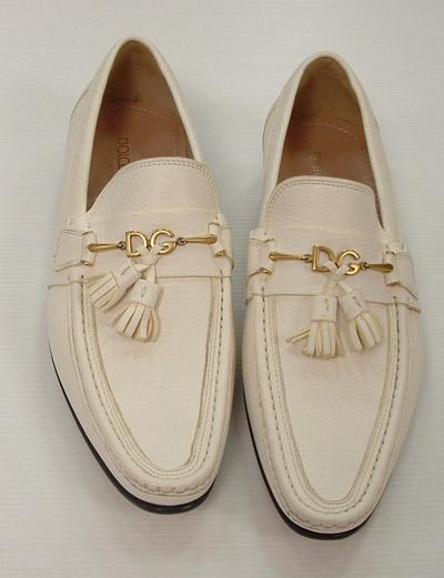 Dolce   Gabbana Scarpe Uomo Mocassino Vitello Bianco Fibbia DG 581e0c98da2