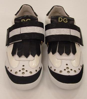 Dolce   Gabbana Scarpe Uomo Pelle bianca e Nero Sneaker b54169a434a